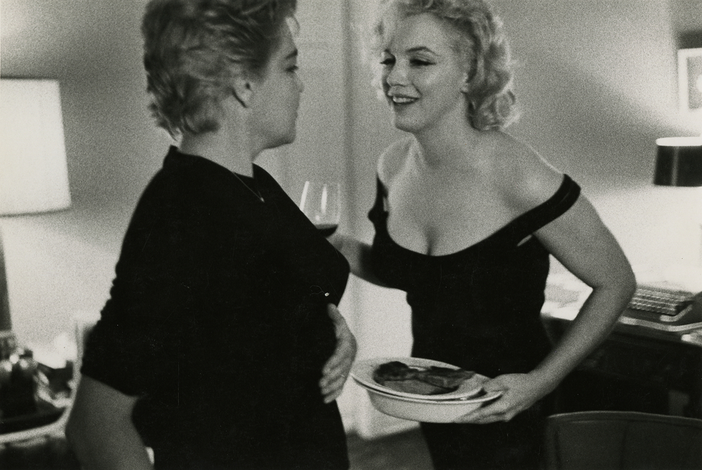 Marilyn Monroe and Simone Signoret by Bruce Davidson