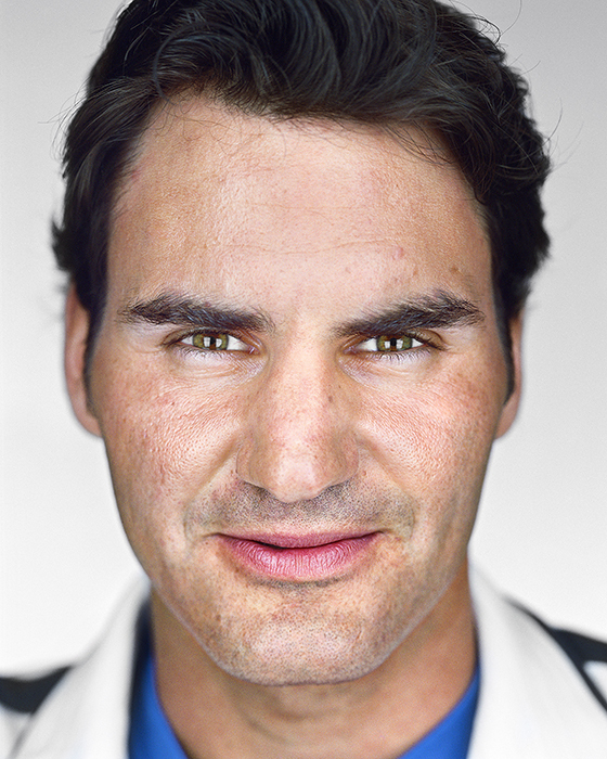 Roger Federer, from the series »Close Up« by Martin Schoeller