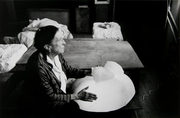 Louise Bourgeois in her studio by Inge Morath