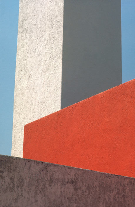 MEXICO. Mexico City. Tacubaya. 1969. House (1947-48) of the Mexican architect Luis BARRAGAN. Roof terrace.